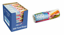 500 Pack Lunch Sandwich Salad Freezer Storage Food Bag On Roll Health & Safety