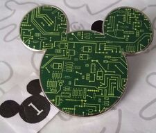 Circuit Board Mickey Mouse Head Icon Green Computer Style Disney Pin