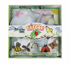 Fox Run Insect Shape Biscuit Cookie Cutters Set Of 5 Bee Butterfly Ladybug New