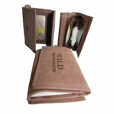 Wild Vintage Wrap Around Brown  leather wallet for women   W16