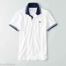 AMERICAN EAGLE OUTFITTERS Tipped Jersey Polo Medium **Brand New with Tag**