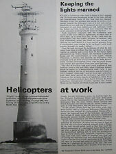 1/78 ARTICLE 6 PAGES HELICOPTER LIGHTHOUSE PHARE NORTH SEA OILFIELDS BELL BEAS