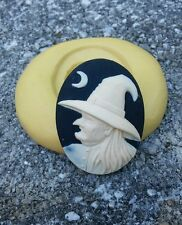 Halloween Witch Wicked  cameo silicone push mold mould  resin sugar craft