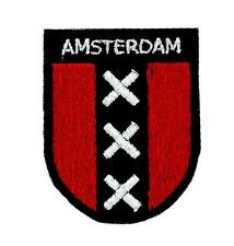 Patch patches backpack flag amsterdam embroidered shield coat of arms holland