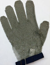 Stainless Steel Metal Mesh Safety Glove  5 finger Reversible - Left or Right LRG