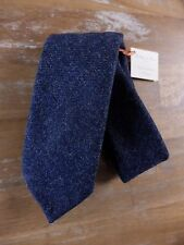 auth HOLLIDAY & BROWN blue hand made wool tie - NWT