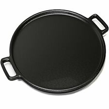 Cast Iron Pasta Forks Pizza Pan 14 Inch - Evenly Bakes and Heat Your Pizza