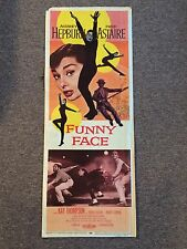 Funny Face Audrey Hepburn Fred Astaire Original Movie Poster 1957 14 X 36