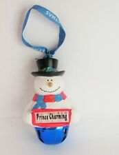 25312 PRINCE CHARMING NAME FROSTY SNOWMAN COLOUR BELL CHRISTMAS TREE DECORATION