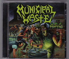 MUNICIPAL WASTE THE ART OF PARTYING CD w Bonus Thrash Hardcore Exodus Anthrax
