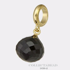 Authentic Endless Silver Gold Plated Black Love Drop Gold Bead 1850-2