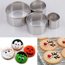4pcs Mini Round Circle Metal Cookie Pastry Fondant Cake Cutter Sugarcraft Mould