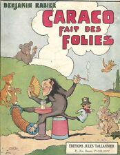 ESTAMPE COULEUR  Benjamin RABIER singe lapin chien musique cigarette oie ours