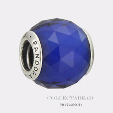 Authentic Pandora Silver Geometric Facets Royal Blue Crystal Bead 791722NCB