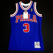 100% Authentic Mitchell & Ness Allen Iverson Sixers blue NBA Jersey Size 40 M
