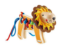 E1048 HAPE Lacing Lion Wooden Threading Beads [Early Explorer] Children 3 Years+