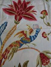EDINBURGH WEAVERS Jacobean BIRD FLORAL BURGUNDY Blue Ivory KING DUVET SET 3PC