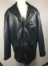 Perry Ellis Portfolio Men's Winter Leather Jacket Size L Super Soft