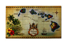 Hawaiian Tropical Decor Floor Door Mat Home Office Bathroom Islands Map Rugs NB
