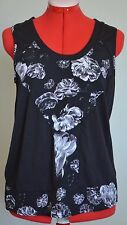 Prabal Gurung for Target- Black+White Floral Tank Top