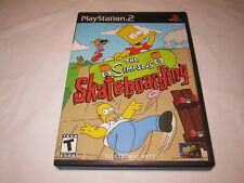 The Simpsons: Skateboarding (Playstation PS2) Black Label Complete Excellent!