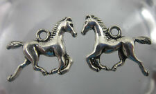20pcs Retro Style Tibet silver horse alloy Double sided charm Pendant 20x15mm