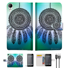 Dream Catcher Wallet TPU Case Cover For HTC Desire 825 -- A026