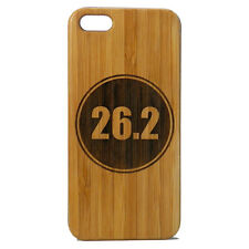 Marathon Runner Case for iPhone 7 Bamboo Wood Cover 26.2 Miles Running Run Gift