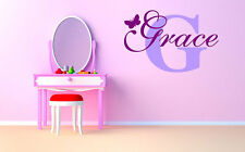 "Butterfly Monogram Name Girls Room Vinyl Wall Decal Graphics 20""x13"" Decor"