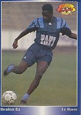 N°057 IBRAHIM BA LE HAVRE HAC CARTE PANINI FOOTBALL 95 FRANCE CARDS 1995