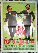 manifesto 2F film FUMO DI LONDRA Alberto Sordi - 2a edizione - art De Seta