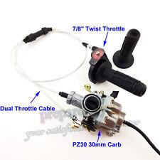 PZ30 30mm Carburetor Throttle Grips Cable 200cc 250cc Engine Dirt Bike Motocross