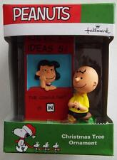 * Lucy Charlie Brown * Peanuts 2016 Ornament Hallmark New In Box