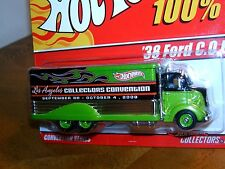 NEW Hot Wheels 100% Diecast~1938 Ford Truck~LA Convention~Real Riders~Limited ED