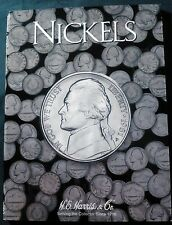 H.E. Harris Nickels Plain (No Dates) Coin Folder, Album Book # 2682.
