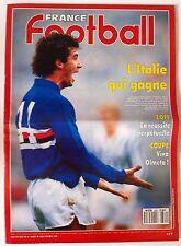 France Football du 8/5/1990; L'Italie Gagne/ Zoff la réussite/ Viva Olmeta