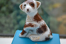 "Royal Crown Derby Paperweight ""BAILEY""  New Sitting Puppy 1st Quality & Orig Box"