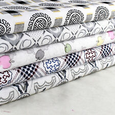 """Craft 5 Assorted Pre Cut Charm 10"""" Squares Quilt DIY Cotton Fabric"""