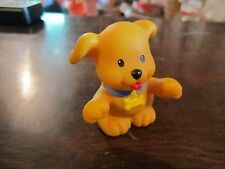 Fisher Price Little People tan dog blue collar k 9 canine pet shop puppy brown