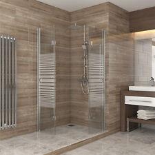 Dusche Duschkabine Falttür Echtglas Duschabtrennung Eckeinstieg 80x80 gestreift
