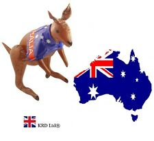 INFLATABLE AUSSIE FLAG KANGAROO Australian Fancy Dress Kids Party Blow Up 70 cm
