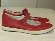ECCO DESIGNER RED LEATHER MARY JANE PUMPS SHOES FLATS UK 6 EUR 39 BNWOB RRP £89