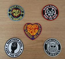 WHOLESALE SET OF FIVE SEW ON / IRON ON PATCHES:- WIGAN CASINO NORTHERN SOUL (a)