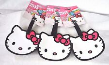 HELLO KITTY THREE LUGGAGE TAGS BY SANRIO BACKPACK/ DANCE /MESSENGER BAG