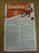 06/07/1950 Speedway Programme: Wembley v New Cross (Folded, Creased, Rusty Stapl