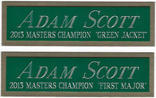 ADAM SCOTT MASTERS NAMEPLATE AUTOGRAPHED Signed PGA GOLF CLUB BAG PHOTO FLAG PIN