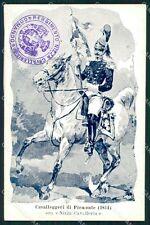 Militari Dragoni di Piemonte Nizza Cavalleria I Reggimento cartolina QT7939
