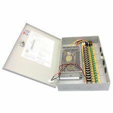 12V DC 10A 18 CH Channel BOXED POWER SUPPLY UNIT For CCTV Surveillance Came M8P4