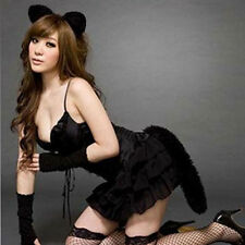 Sweet Bunny Cat Girls Women Sexy Bubble Skirt Halloween Costume Lingerie Set