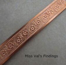1 foot 21 gauge copper flower bezel wire 8mm